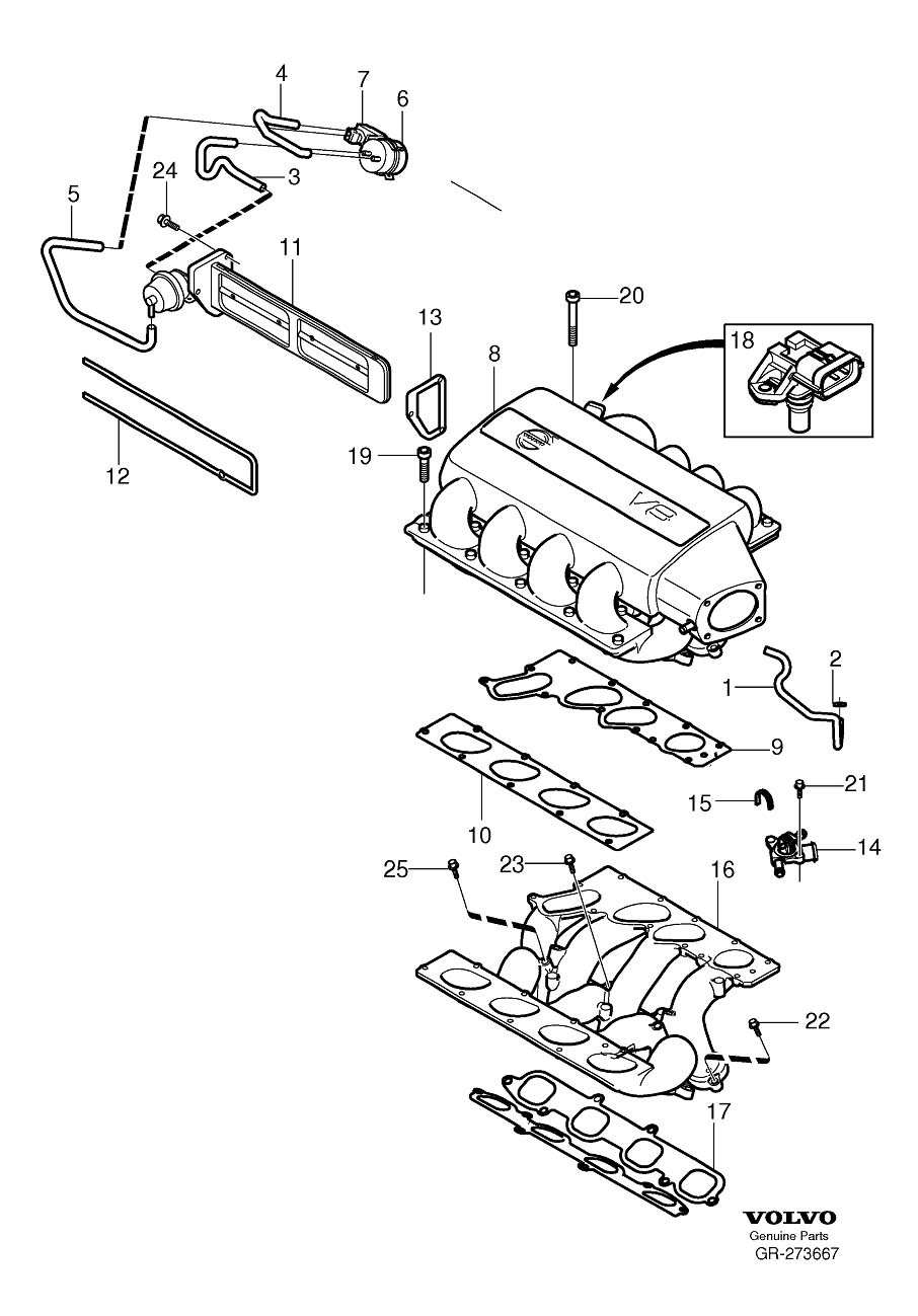 Xc90 V8 Intake Vacuum Canister Replacement on Volvo S80 Engine Diagram
